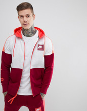 NIKE | Худи красного цвета на молнии Nike Air 886044-051 - Красный | Clouty