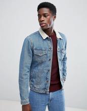 Jack & Jones   Джинсовая куртка с воротником из искусственного меха Jack & Jones - Синий   Clouty