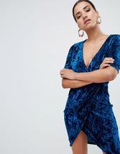 Club L | Бархатное платье с запахом Club L - Синий | Clouty