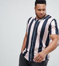 ASOS   Свободная футболка с вертикальной полосой ASOS DESIGN Plus - Мульти   Clouty