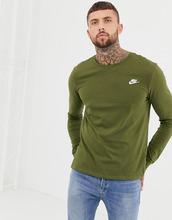NIKE | Зеленый лонгслив Nike Club AQ7141-395 - Зеленый | Clouty