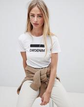DR DENIM | Футболка с логотипом Dr Denim Luna - Белый | Clouty