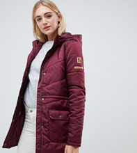 Noisy May   Дутая куртка с капюшоном Noisy May Tall - Красный   Clouty