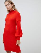 Fashion Union | Трикотажное платье с пышными рукавами Fashion Union - Оранжевый | Clouty