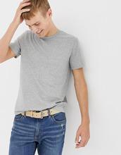 J.Crew Mercantile | Серая меланжевая выбеленная футболка с круглым вырезом J.Crew Mercantile - Серый | Clouty