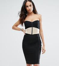 Vesper | Платье-футляр со вставкой и лифом сердечко Vesper - Мульти | Clouty