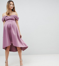 ASOS | Платье миди для выпускного с вырезами на плечах и асимметричным краем | Clouty