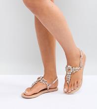 ASOS | Кожаные сандалии для широкой стопы с декоративной отделкой ASOS DESIGN | Clouty