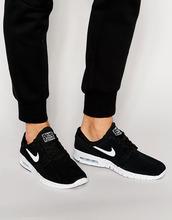 NIKE SB | Черные кроссовки Nike SB Stefan Janoski Max 685299-002 - Черный | Clouty
