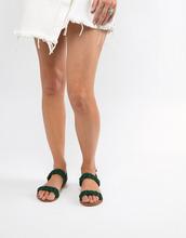 ASOS | Кожаные плетеные сандалии ASOS DESIGN Frenchie - Зеленый | Clouty