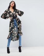 ASOS | Чайная блузка макси с цветочным принтом и оборками ASOS Ultimate | Clouty