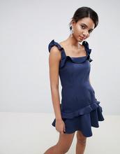 Keepsake | Платье мини с оборками Keepsake - Темно-синий | Clouty