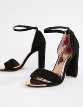 Ted Baker | Черные замшевые босоножки на блочном каблуке Ted Baker - Черный | Clouty