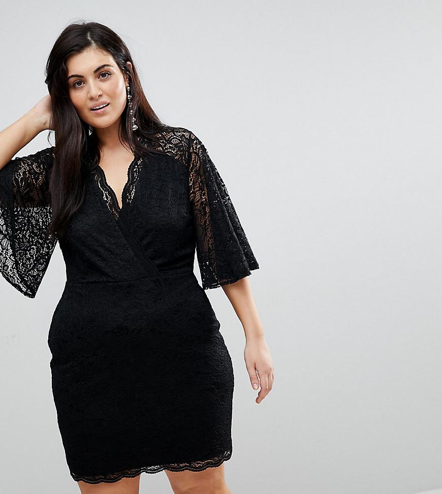 50c10023f079 ASOS   Кружевное платье мини с глубоким вырезом ASOS CURVE - Мульти    Clouty ...