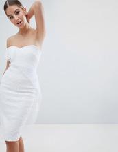 Vesper | Асимметричное кружевное платье-футляр Vesper - Белый | Clouty