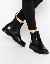 Dr. Martens   Черные ботинки челси Dr Martens Kensington Flora - Черный   Clouty
