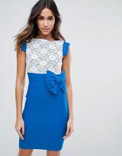 Vesper | Платье миди с кружевом и бантом Vesper - Синий | Clouty