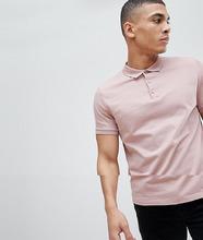 ASOS   Розовая трикотажняа футболка-поло ASOS DESIGN - Розовый   Clouty