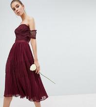 ASOS | Премиум-платье миди с кружевными вставками ASOS DESIGN Tall Bridesmaid | Clouty