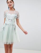 ASOS | Платье мини из тюля с открытой спиной ASOS DESIGN - Синий | Clouty