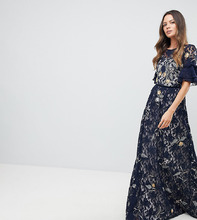 Frock And Frill | Кружевное платье макси с цветочной вышивкой Frock And Frill Tall | Clouty