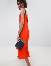 ASOS | Платье миди с бретелями ASOS WHITE - Красный | Clouty