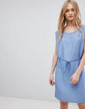Blend She   Джинсовое платье с поясом и принтом Blend She Mally - Синий   Clouty