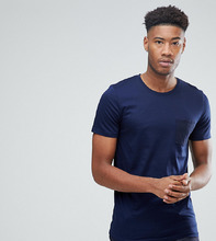 Selected Homme | Футболка в полоску с контрастным карманом Selected Homme TALL | Clouty