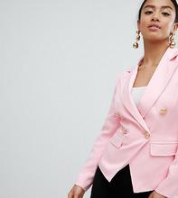 Missguided | Блейзер с золотистыми пуговицами Missguided Petite - Розовый | Clouty