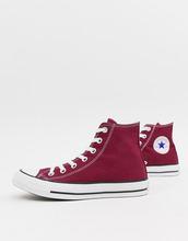 CONVERSE | Бордовые высокие кеды Converse Chuck Taylor All Star - Красный | Clouty
