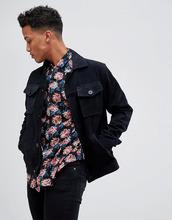 Barney's Originals | Замшевая куртка в стиле вестерн с карманами Barney's Originals - Темно-синий | Clouty