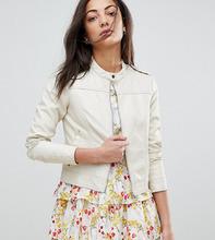 VERO MODA | Байкерская куртка из искусственной кожи Vero Moda Tall - Бежевый | Clouty