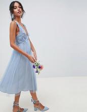 ASOS | Платье миди из кружева и сетчатой ткани добби ASOS DESIGN Bridesmaid | Clouty