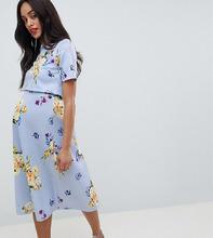 ASOS | Платье для выпускного с кроп-топом и цветочным принтом ASOS DESIGN Mat | Clouty