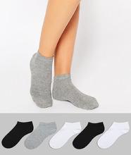 ASOS | 5 пар спортивных носков ASOS DESIGN - Мульти | Clouty