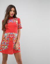 ASOS | Платье мини с вышивкой ASOS PREMIUM - Оранжевый | Clouty