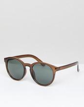 ASOS | Круглые солнцезащитные очки ASOS - Коричневый | Clouty