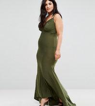 Club L   Платье макси Club L Plus - Зеленый   Clouty