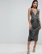 ASOS | Декорированное платье миди на бретельках ASOS EDITION - Черный | Clouty