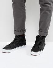 VANS | Кожаные премиум-кроссовки Vans Sk8-HI Reissue - Черный | Clouty