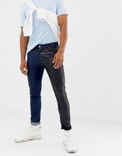 ASOS   Черные джинсы скинни с контрастными штанинами ASOS DESIGN - Черный   Clouty
