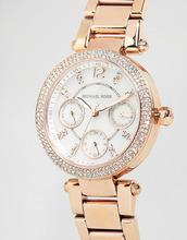 MICHAEL KORS | Золотисто-розовые часы с хронографом Michael Kors Parker MK5616 - Золотой | Clouty