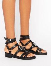 ASOS | Кожаные сандалии ASOS FOREMOST - Черный | Clouty