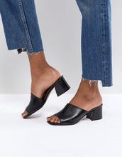 ASOS | Кожаные босоножки на асимметричном каблуке ASOS TATIANA - Черный | Clouty