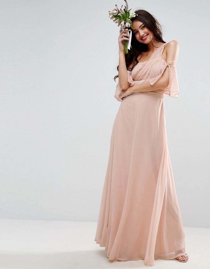 1a0c4ac97cf Платье макси на одно плечо ASOS DESIGN - Розовый CL000012762090 ...