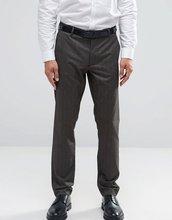 ASOS   Коричневые строгие брюки скинни в елочку ASOS - Коричневый   Clouty