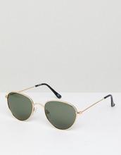 ASOS | Круглые солнцезащитные очки с поляризованными стеклами ASOS - Золотой | Clouty