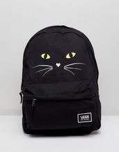 VANS | Классический рюкзак с кошачьим принтом Vans Realm - Черный | Clouty