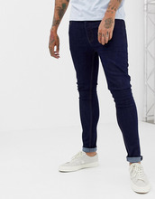 Threadbare   Выбеленные супероблегающие джинсы Threadbare - Темно-синий   Clouty