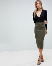 ASOS | Длинная юбка-карандаш ASOS - Зеленый | Clouty